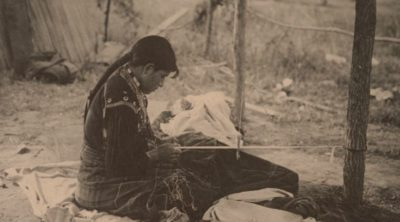 Comanche History Seated Woman