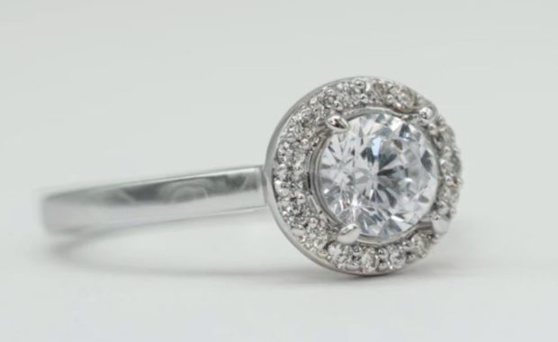 Diamond History Engagement Ring